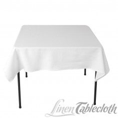 Where to find LINENS, SQUARE 52 x 52  WHITE in Butler