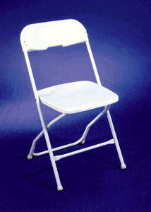 Where to find CHAIRS, WHITE METAL in Butler