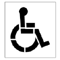 Where to rent STENCIL, HANDICAP in Butler PA