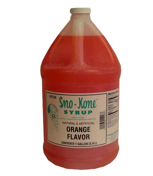 Sno Kone Syrup Gal Orange Rentals Butler Pa Where To Rent