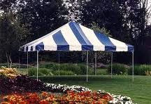 Where to find CANOPY, 20  x 20  POLE, BLUE   WHITE in Butler