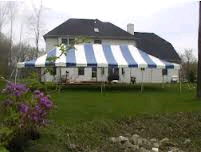 Where to find CANOPY, 20  x 40  POLE, BLUE   WHITE in Butler